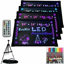 "LED Menu Board 24"" x 16"" Message Sign display dry erase Fluorescent neon writing"