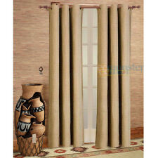 2PCS CHENILLE PANELS CURTAINS WITH GROMMETS WINDOW COVERINGS 3COLORS