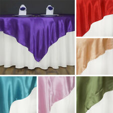 """48 x SATIN SQUARE 60x60"""" Table OVERLAYS Wholesale HUGE LOT Wedding Party Supply"""