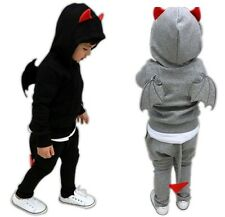 New Cute 2 Pieces Baby Boys Girls Kids Children Clothes Wings Suits Outfits Sets