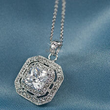 18K GOLD GP SWAROVSKI CRYSTAL WEDDING PENDANT NECKLACE