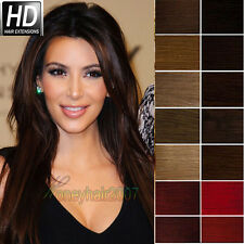 """100% 15""""-30""""Clip in Full head Clip In Remy Human Hair Extensions 70g 100g 120g"""