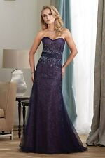 Navy & Pink Montage Mon Cheri Dress Style # 212948 Size 10 Lace Sweetheart Gown
