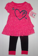 Circo Toddler  Girls Heart  2 Piece Outfit Size  2T or 3T OR 4T NWT