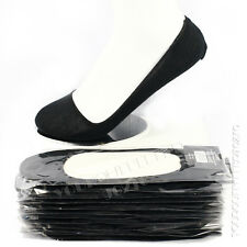 3 6 12 Pairs Loafer Boat Liner Black Socks Low Cut No Show Elastic Womens Unisex