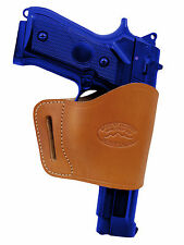 Barsony Tan Leather Yaqui Gun Holster for Taurus 9mm 40 45 Full Size