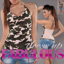NEW SEXY WOMEN'S CAMO TOP SHIRT MILITARY HOT CASUAL CLUBBING CLOTHES FOR GIRLS