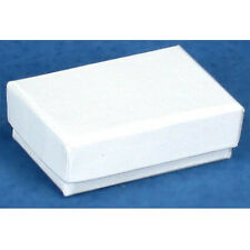 New lot of 5-10- 25-50-100-200 pcs Cotton Filled WhiteJewelry Gift Boxes1 7/8''