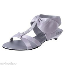 Cheap Clarice Womens Low Heel ComfortableDressy Sandals Bridal Shoes Amara Silve