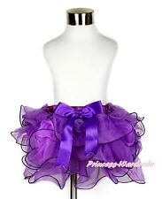Elegant Girl Baby Purple Petal Pettiskirt Purple Bow Skirt Dress Tutu NB-8Year