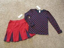 GYMBOREE U PK HOMECOMING KITTY SKIRT OR SKORT & TOP OUTFIT 5 6 7 8 9 10 12 NWT