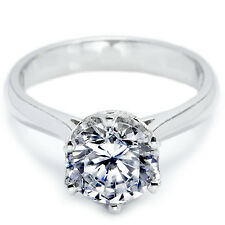 Women's Round Cut Solitaire CZ Stainless Steel Promise Wedding Eengagement Ring