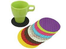 4 x PVC Woven Round Weave Coaster for Beverage Cup Mug Glass