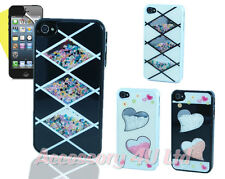 NEW DIAMONTE BLOCK DESIGN BLING HARD CASE COVER FOR APPLE IPHONE 4+Free Screen