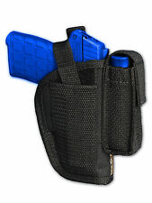 Barsony OWB Gun Holster w/ Mag Pouch for Sig-Sauer, Walther Ultra-Comp 9mm 40 45