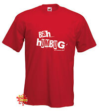 BAH HUMBUG Is It January Yet? novelty xmas christmas scrooge T shirt All Sizes