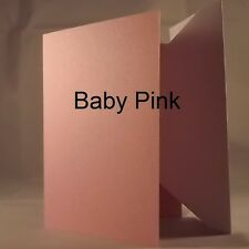 Baby Pink A5/C5 Quality 240gsm Card Blanks select pack size 1st class FREE Post
