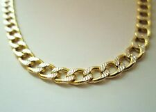 Men's  4.5 mm 10k Yellow Gold Diamond Cut Pave Cuban Hollow Chain 22 - 24 inch