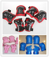 6pcs New Kids Child Skating Gear Knee Elbow Wrist Guard Protective Gear Pad Case