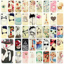 Painted Various Pattern Phone Hard Back Skin Case Cover fr Apple IPhone4 4S 5 5S