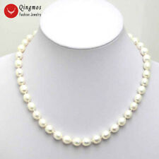 "SALE 6-7MM Rice WHITE Natural freshwater PEARL 17"" NECKLACE -nec5024"