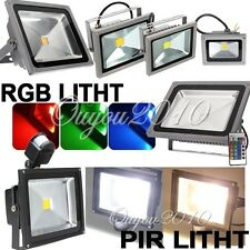10W 20W 30W 40W 50W LED RGB PIR Flood Spot Light Outdoor Garden Lamp Bulb White