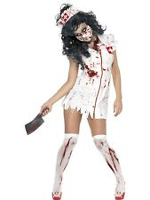 Adult Zombie Nurse Fancy Dress Costume Undead Halloween Horror Ladies Womens BN
