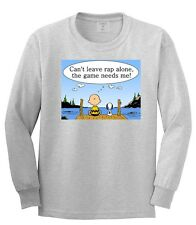 KINGS OF NY CHARLIE BROWN HIPHOP QUOTE LONG SLEEVE TSHIRT JAY-Z MUSIC CARTOON
