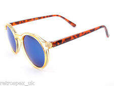 NEW VINTAGE RETRO TORTOISESHELL ROUND MENS / WOMENS SUNGLASSES