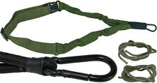 IDF One 1-Point Quick Release Bungee Tactical Gun Strap Rifle Sling Hook - Green