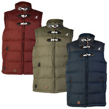 MENS KANGOL K601253C DESIGNER TOGGLE WINTER BODYWARMER GILET JACKET SIZE S-XXL