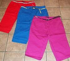 Womens Plus FADED GLORY~CAPRIS PANTS~sz 20W~NEW~Your Color Choice~BELT~Cropped