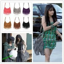 Celebrity Tassel Suede Fringe Shoulder Messenger Handbag Cross Body Bag