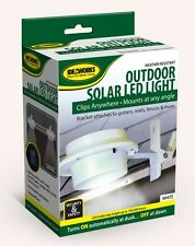 Solar Powered Fence Gutter Light Outdoor Garden Yard Wall Pathway Lamp 3 LED