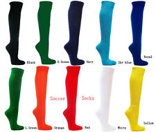 Soccer socks in classic solid color nylon + spandex with moisture control