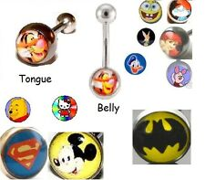 New Logo Belly or Tongue Bar Navel Piercing Stud Body Jewellery Picture Disney