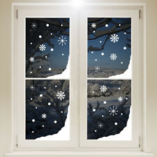 Christmas Snow Window Corners Sticker White Wall Decal Transfer Xmas Decorations