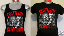 CARRY ON SCREAMING T-SHIRT punk metal horror tattoo skull bike zombie girlie ENT