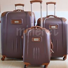 LIGHTWEIGHT LUGGAGE SUITCASE JEEP TEXAS HARD SHELL TROLLEY CASE 4 WHEEL SPINNER