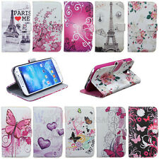 New For Samsung Galaxy SIV S4 i9500 Flower Leather Flip Wallet Pouch Case Cover