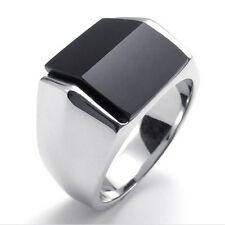 Zircon Ring -Stainless Steel Bevel Rings Fashion Men Jewelry Size 7/8/9/10/11/12
