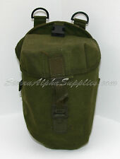 BRITISH ARMY SURPLUS OLIVE GREEN PLCE WEBBING POUCHES-AMMO,UTILITY,WATER BOTTLE