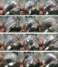 Wholesale Hot Sell! Tibetan Tibet Silver Carved Lucky Bangle Bracelet 21 style