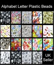 400 beads pack / Alphabet Letter Plastic Beads - Random Mixed - Various Style