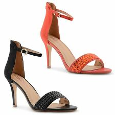 New Dolcis Ladies Stiletto High Heel Ankle Strap Open Toe Sandals Size UK 3-8