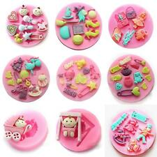 Pick 10 Styles Silicone Mold Mould for Polymer Clay Fondant Cake Decorating DIY