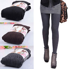 Womens Comfortable Winter Fashion Footed Warm Cotton Stockings Tights Leggings