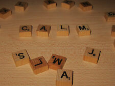 SMALL TRAVEL SCRABBLE TILES FOR CRAFT OR REPLACEMENT - LETTERS -FREE SHIPPING