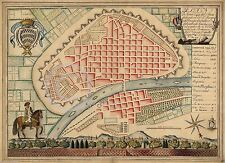 1790 LARGE WALL MAP PLAN OF CAPITAL LIMA PERU