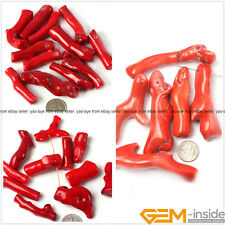 Natural Branch Red Coral Jewelry Making loose gemstone beads 10 Pcs